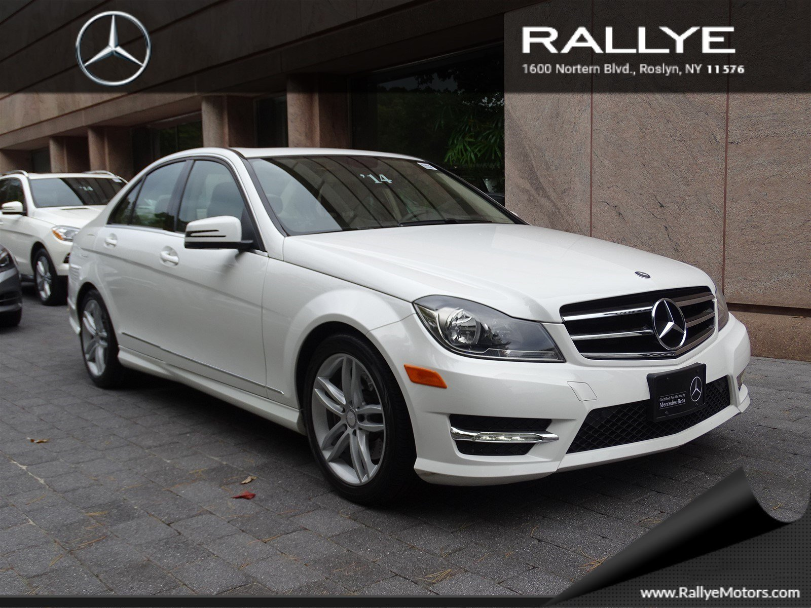 Certified pre owned 2014 mercedes benz c class c300 sport for Mercedes benz roslyn