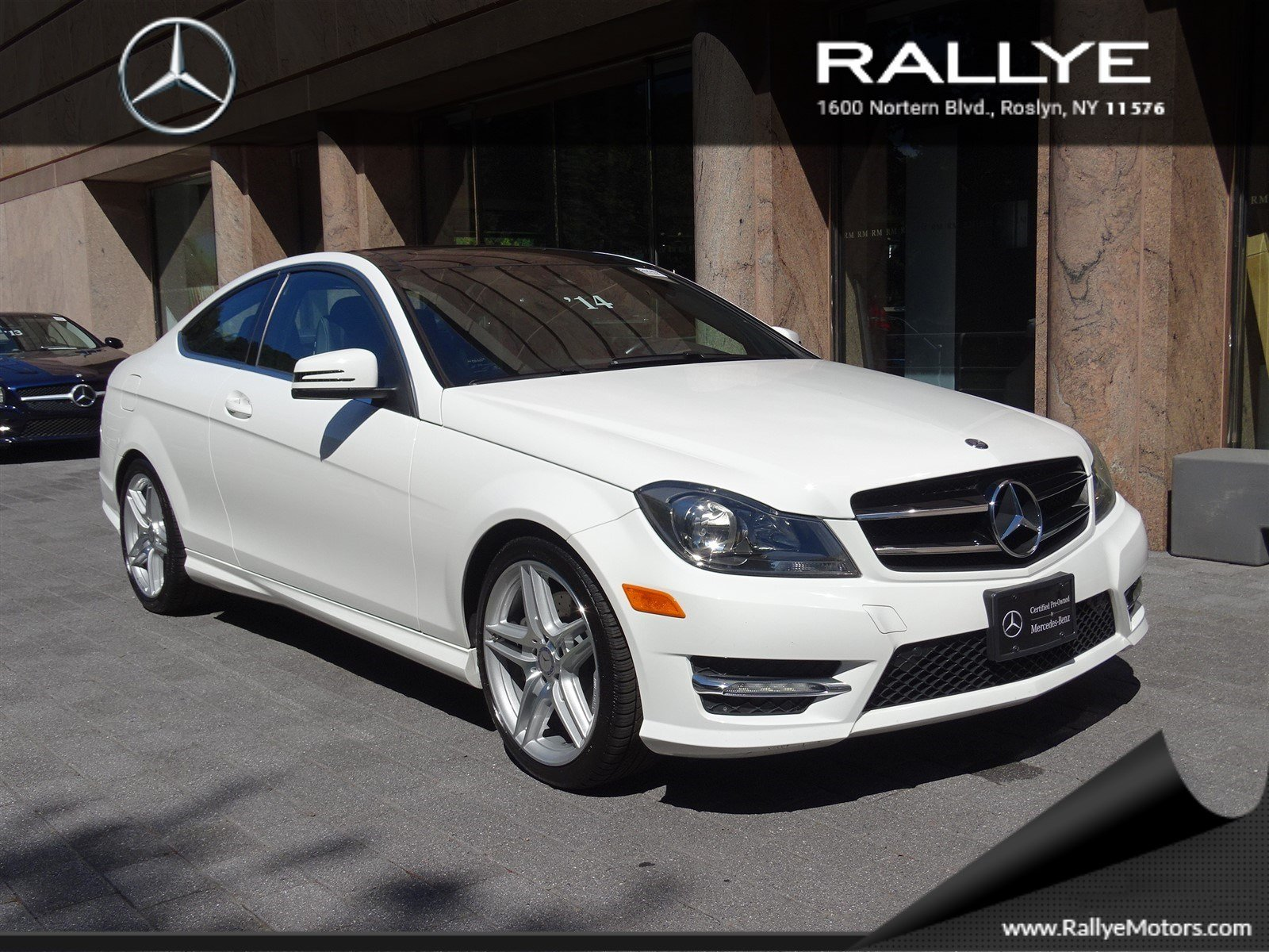 Certified pre owned 2014 mercedes benz c class c350 coupe for Mercedes benz roslyn